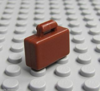 New Lego City Brown Briefcase Business Minifig Minifigure Suitcase