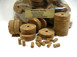 Cork Rings Brown Burl 1 5 inch Lot of 50 Best Buy