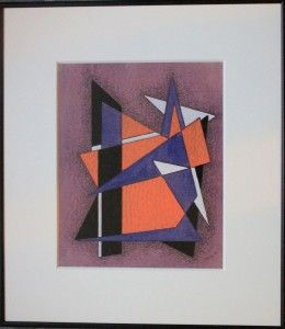 Thomas Brownell Eldred Signed Painting Geometric Abstraction Kandinsky
