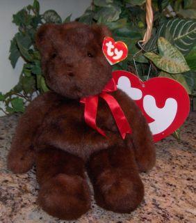 TY ~ PJ Teddy Brown Bear Mint w/CT 18 Beanie Classic Buddy Baby 1990