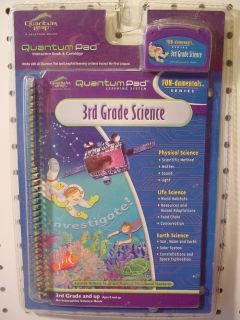 3RD GRADE SCIENCE QUANTUM PAD LEAP BOOK PHYSICAL LIFE EARTH LEAPFROG