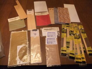 HO SCALE TRAIN BUILDING MATERIALS LARGE LOT REAL WOOD NO RESERVE BEST