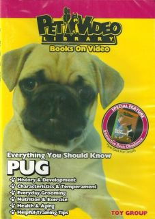 Pug DVD New Dog Training Puppy Pet Video Library