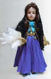 Loveless 26 EZMERELDA GYPSY DOLL ANTIQUE REPRODUCTION BRU JNE 14