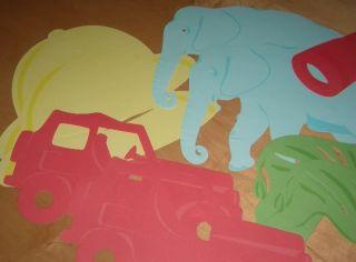 New Teaching Bulletin Board Die Cut Safari Animals
