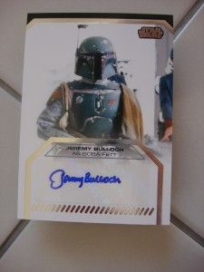 Star Wars Galactic Files Auto Autographed JEREMY BULLOCH AS BOBA FETT