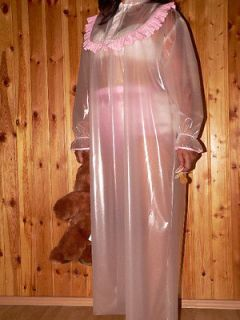 Adult Baby Sissy 100 % PVC nightgown nightdress Dress PVC Nachthemd