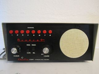 vintage bearcat model bch business radio receiver
