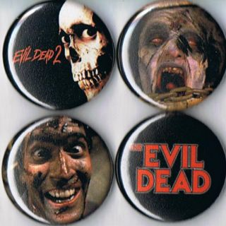 Evil Dead Pins Buttons Badges Ash Bruce Campbell 80s Horror 2