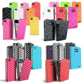 LEATHER FLIP CASE COVER FITS VARIOUS MOBILE PHONES FREE SCREEN