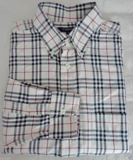 Burberry London Size M Mens Nova Check Shirt 15 Collar