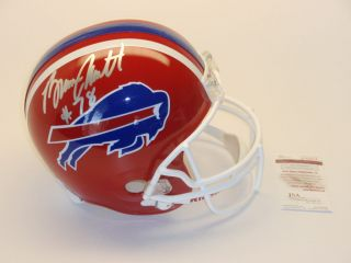 BRUCE SMITH SIGNED BUFFALO BILLS FULL SIZE REPLICA HELMET JSA