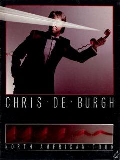 CHRIS DE BURGH 1984 MAN ON THE LINE TOUR CONCERT PROGRAM BOOK
