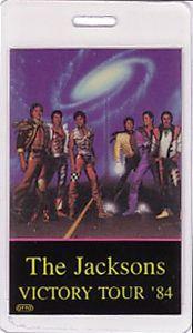 Michael Jackson 1984 Laminated Backstage Pass Promoter