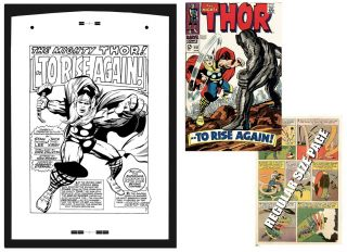 Jack Kirby Thor 151 RARE Large Production Art PG 1