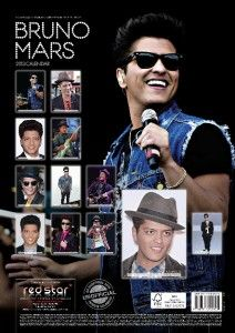 BRUNO MARS 2013 UK WALL CALENDAR BRAND NEW AND FACTORY SEALED RS