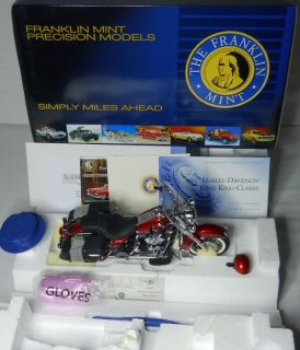 Franklin Mint 1 10 Harley Davidson Road King Classic Aztec Orange