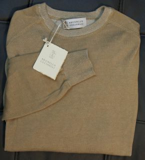 Brunello Cucinelli Light Sweater Dark Yellow Small S MADE IN ITALY NEW