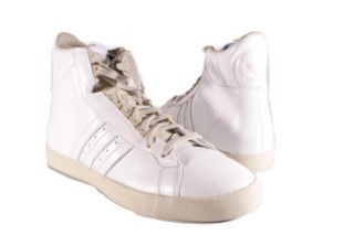 Adidas White Clay Winetta Hi Top Leather Sneakers Womens Shoes
