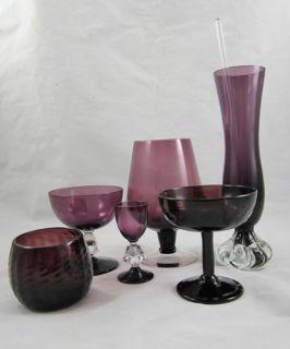 Bryce Aquarius Amethyst Purple Glass Champaign Sherbet Cordial Lot Bud