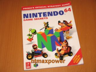 Nintendo 64 Game Secrets Guide N64 Mario Kart Banjo Etc