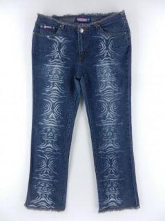 Bubblegum Straight Leg Stretch Cotton Denim Blue Jeans Womens Pant Sz