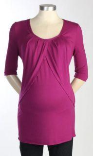 New Japanese Weekend Maternity Nursing Pink Tulip Top $78