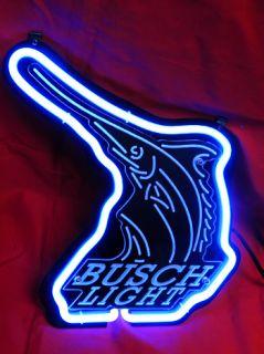 Busch Bud Light Beer Bar Neon Light Sign SD364 Blue