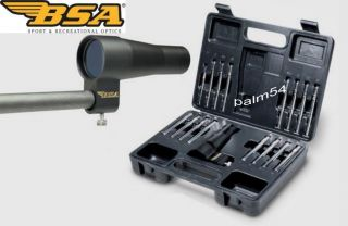 BSA Optics Boresighter Kit with Case Fits Calibers 177 to 50 Brand New