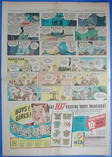 BUCK ROGERS COMIC STRIP Dill 1944 Seattle Times newspaper history