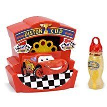 Features of Disney Cars Lightning McQueen Bubble Blowing Machine