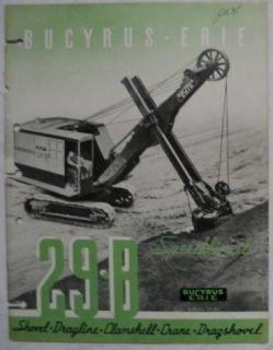 Bucyrus Erie 1940 29B Shovel Dragline Crane Brochure