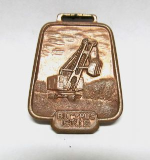 Vintage Antique Bucyrus Erie Shovel Excavator Bell Watch Fob