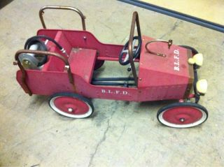 Buddy L Fire Truck Pedal Car Ride on Toy Fresh Picked