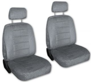 Grey/Gray Scottsdale Fabric Low Back Car Bucket Seat Covers #V