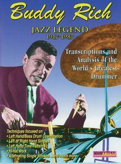 Buddy Rich Jazz Legend 1917 1987 Drum Book Drums Drumset