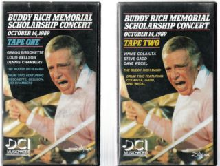 Buddy Rich Memorial Concert Complete Two Tape Set EX