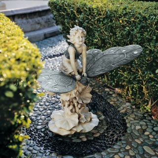 Mystical Butterfly Garden Statue Sculpture Home Decor Indoor Outdoor