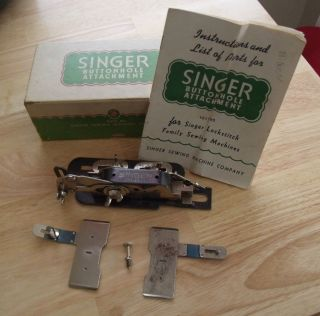 Vintage Singer Sewing Machine Buttonhole Attachment No 121795