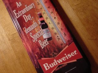 Deer Hunter Budweiser Hunting Lodge Bar Pub Cabin Beer Thermometer