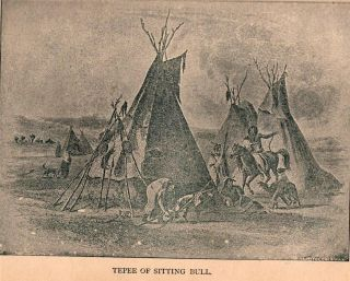RARE 1891 Life of Sitting Bull American Indian War Custer Chief Crazy