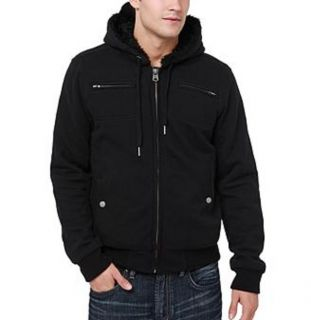 Buffalo David Bitton Mens BM12191 Fizor Full Zip Faded Black Hoodie s