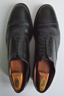 Allen Edmonds Byron Black Leather Cap Toe Lace Up Oxfords 13B W/ Shoe