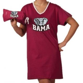 Alabama Crimson Tide Bama Womens Night Shirt Tee with Bag