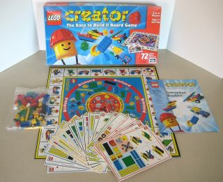 LEGO Creator Race To Build It Board Game 1999 100% COMPLETE Rose Art
