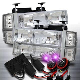 94 98 Chevy C/K C10/Tahoe/Suburban Headlight/Corner/Bumper Lamp/12000K