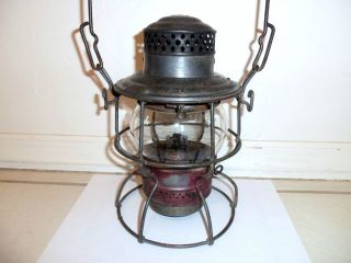 Vintage C O Railroad Lantern Old Kerosene Lamp 1931 Chesapeake Ohio