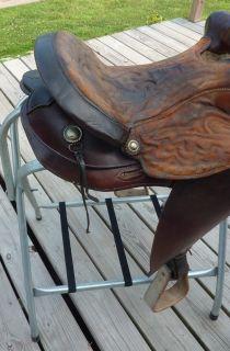 15 Buford Western Horse Saddle Used Tack Vintage Decor