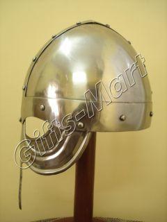 Norman Viking Helmet, Ancient helmets w/CHINStrap Medieval Armor