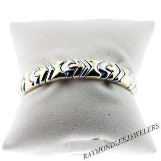 Bulgari Bvlgari Two Tone 18K Gold Cuff Bracelet